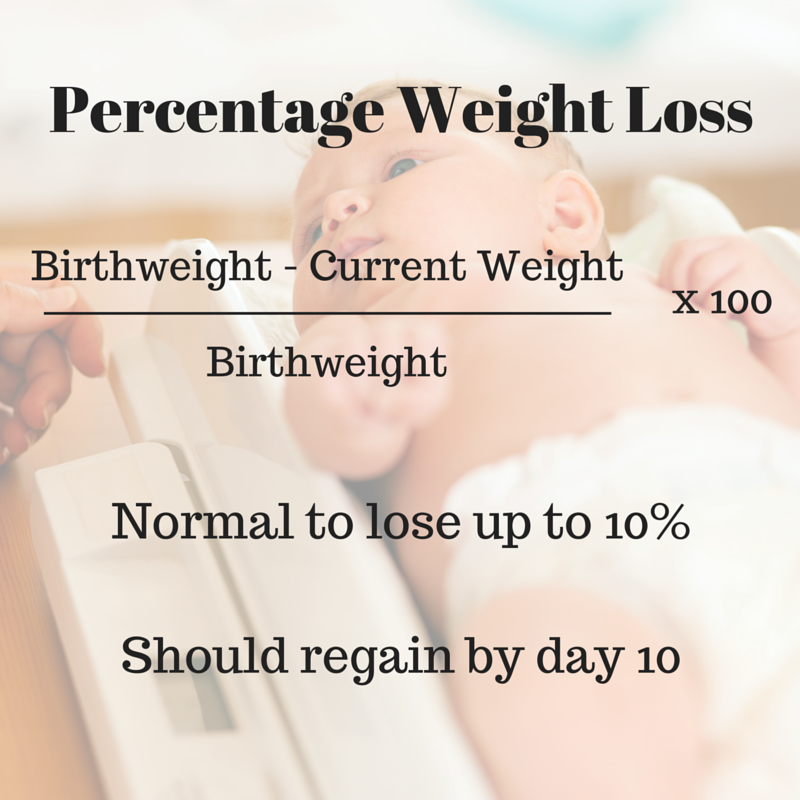 weight loss in infants